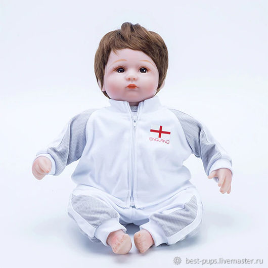 Кукла Reborn, футболист Англия (A), Куклы Reborn, Старый Оскол,  Фото №1