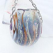 Украшения ручной работы. Ярмарка Мастеров - ручная работа Артефакт - кулон - шар лэмпворк на кожаном шнуре. Handmade.