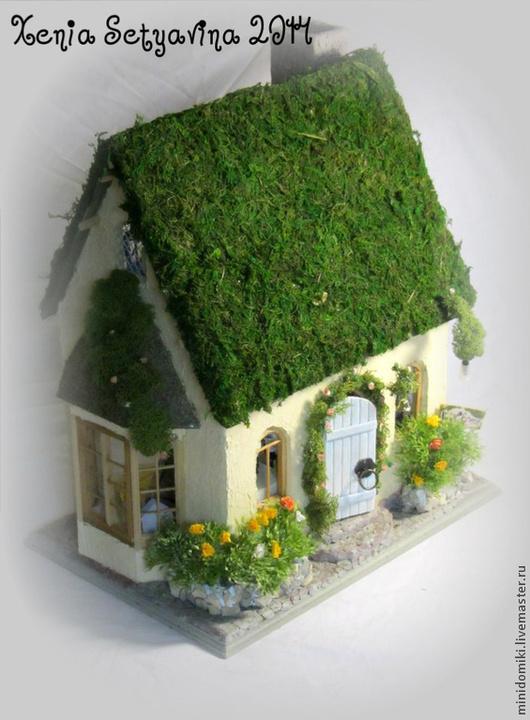 Кукольный дом ручной работы. Ярмарка Мастеров - ручная работа. Купить Домик в зелени. Handmade. Зеленый, сказочный, эко дом