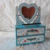 """Для дома и интерьера ручной работы. Ярмарка Мастеров - ручная работа Комод с зеркалом """"сердце"""". Handmade."""