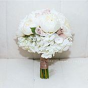 Свадебные букеты ручной работы. Ярмарка Мастеров - ручная работа Свадебный букет невесты из пионов, роз и гортензии. Handmade.