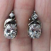 Украшения handmade. Livemaster - original item Hilaria earrings-rhinestone, 925 silver. Handmade.