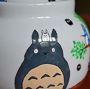 Посуда ручной работы. Ярмарка Мастеров - ручная работа Сахарница с Тоторо. Handmade.
