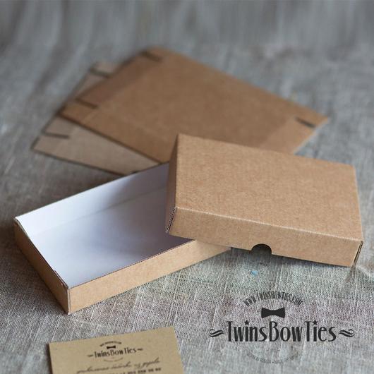 Коробка из гофрокартона в сборе. Упаковка из картона. TwinsWood / TwinsBowTies упаковка.