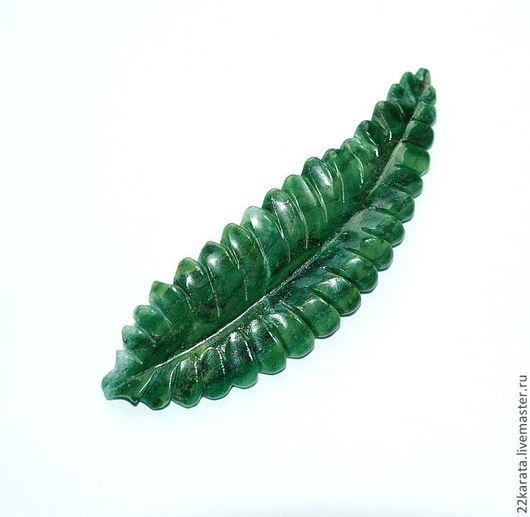 Для украшений ручной работы. Ярмарка Мастеров - ручная работа. Купить Агат зеленый, Лист. Handmade. Тёмно-зелёный