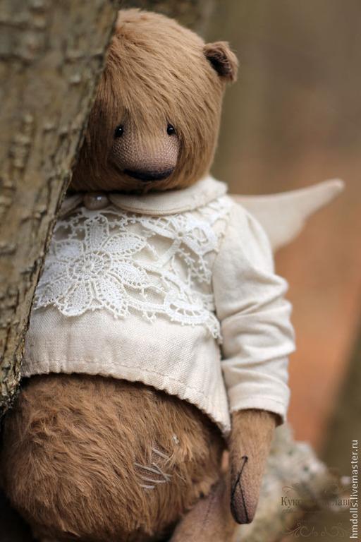 Мишки Тедди ручной работы. Ярмарка Мастеров - ручная работа. Купить Ангел. Handmade. Коричневый, мишки тедди, вискоза италия