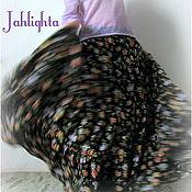 """Одежда handmade. Livemaster - original item Skirt """"Night Flowers"""". Handmade."""