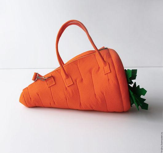 Женские сумки ручной работы. Ярмарка Мастеров - ручная работа. Купить Сумка морковь. Натуральный фетр.. Handmade. Оранжевый, овощи