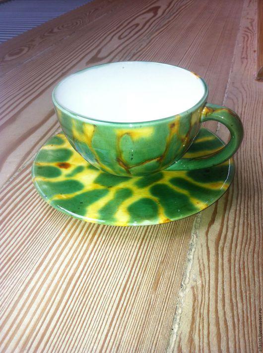 """Сервизы, чайные пары ручной работы. Ярмарка Мастеров - ручная работа. Купить Чайная пара """"Green Spring"""". Керамика.. Handmade."""