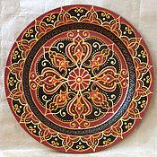 """Посуда ручной работы. Ярмарка Мастеров - ручная работа Декоративная тарелка """"Бордо"""". Handmade."""