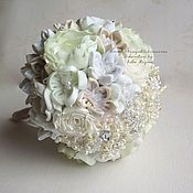 Свадебный салон handmade. Livemaster - original item White wedding brooch bouquet. A winter bouquet made of brooches. Handmade.