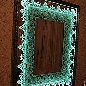 Для дома и интерьера ручной работы. Ярмарка Мастеров - ручная работа Зеркало с подсветкой. Handmade.