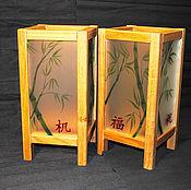 Фен-шуй и эзотерика ручной работы. Ярмарка Мастеров - ручная работа Прикроватные светильники в японском стиле. Handmade.