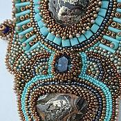 Украшения handmade. Livemaster - original item Bead embroidered necklace The Gothic mosaic. Handmade.