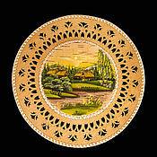 Посуда handmade. Livemaster - original item Plate from clay on the wall. Wall plate.. Handmade.