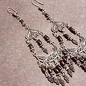 Винтаж handmade. Livemaster - original item Silver VINTAGE silver vintage earrings large,long 900 samples.. Handmade.