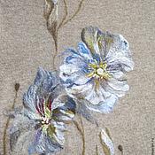 """Одежда ручной работы. Ярмарка Мастеров - ручная работа Трикотажный кардиган """" Голубые Мальвы"""". Handmade."""