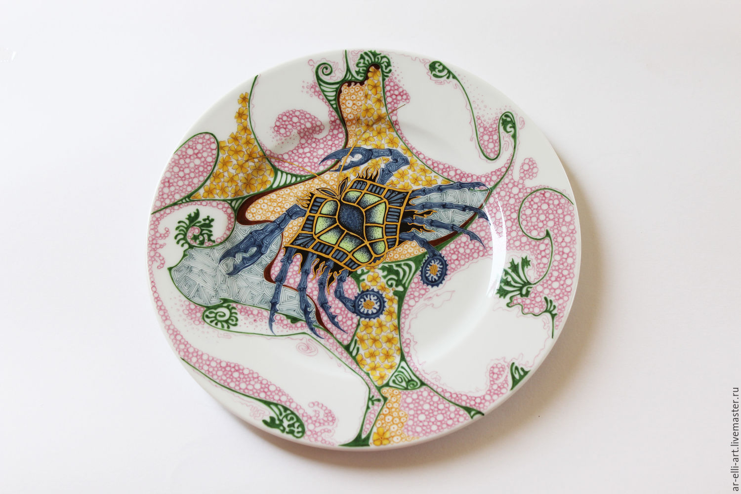 Plates handmade. Livemaster - handmade. Buy porcelain decorative plate u0027crabu0027. & porcelain decorative plate