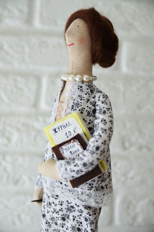 Куклы Тильды ручной работы. Ярмарка Мастеров - ручная работа. Купить Кукла учительница по фото. Handmade. Тильда, шерсть