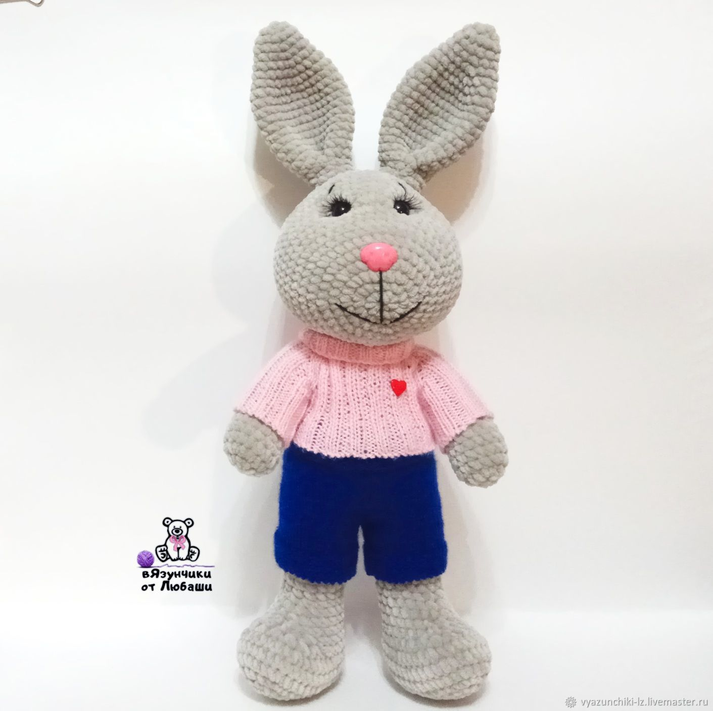 Toy Bunny knitted plush toy Hare soft toy rabbit, Stuffed Toys, Volokolamsk,  Фото №1