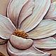 """Картины цветов ручной работы. Фреска """"Нежные магнолии"""". Floritolla. Ярмарка Мастеров. Розовый, акриловые краски"""