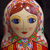 Dolls1 handmade. Livemaster - original item Matryoshka in the bright shawl (7 seats). Handmade.