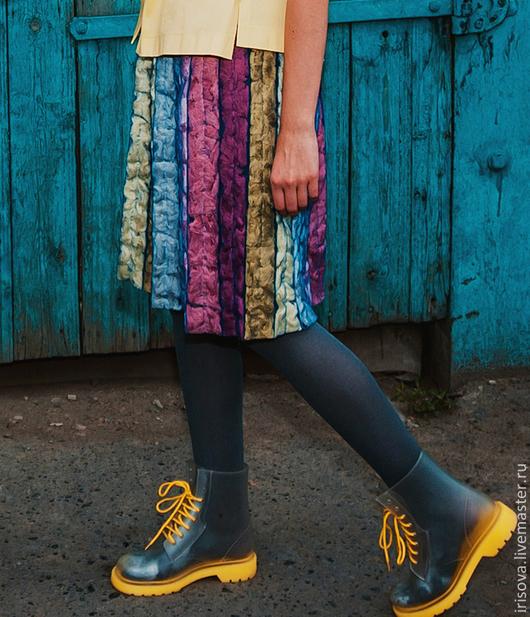 """Юбки ручной работы. Ярмарка Мастеров - ручная работа. Купить Юбка """"Секрет"""". Handmade. Необычная одежда, юбка на резинке, рустик"""