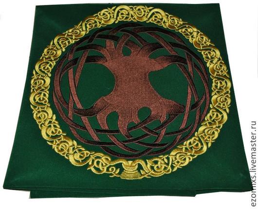 Гадания ручной работы. Ярмарка Мастеров - ручная работа. Купить Алтарное покрывало Кельтское древо. Handmade. Зеленый, магия, ритуал