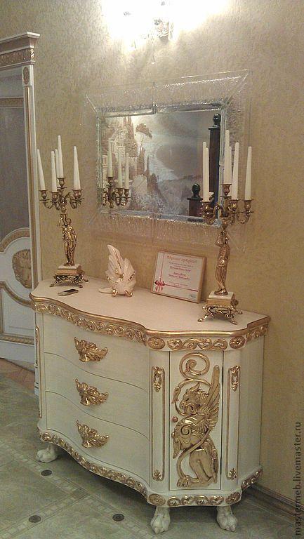 Мебель ручной работы. Ярмарка Мастеров - ручная работа. Купить Комод деревянный. Handmade. Золотой, деревянная мебель, деревянный, комо