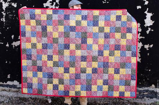 Текстиль, ковры ручной работы. Ярмарка Мастеров - ручная работа. Купить Лоскутное одеяло. Handmade. Ярко-красный, одеяло пэчворк