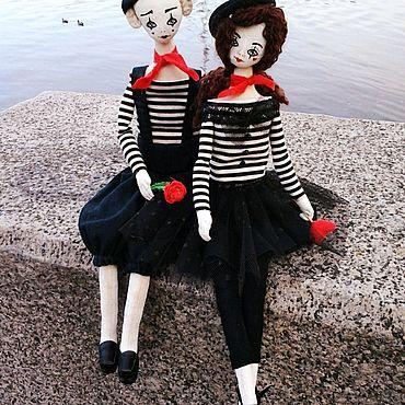 Куклы и игрушки ручной работы. Ярмарка Мастеров - ручная работа Интерьерная пара Влюблённые мимы. Handmade.