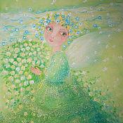 """Картины и панно ручной работы. Ярмарка Мастеров - ручная работа картина """"Весну ждали?"""". Handmade."""