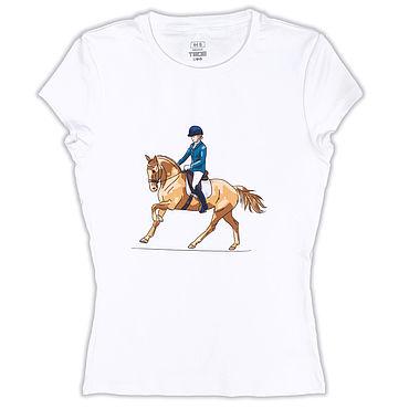 Одежда ручной работы. Ярмарка Мастеров - ручная работа Авторская футболка Всадница на пони. Handmade.