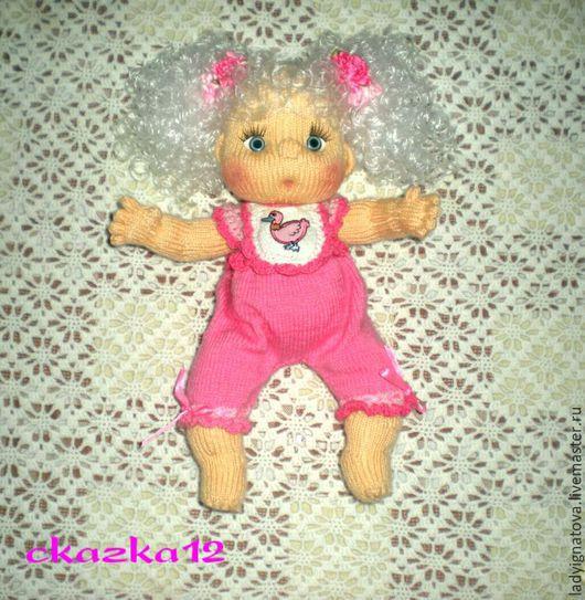"""Человечки ручной работы. Ярмарка Мастеров - ручная работа. Купить Кукла вязаная""""Дашенька"""". Handmade. Бежевый, пупсы, подруге, детская комната"""