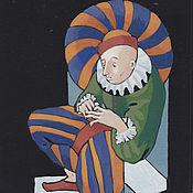 Картины и панно ручной работы. Ярмарка Мастеров - ручная работа клоун (арлекин). Handmade.