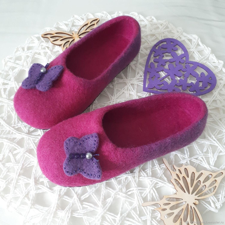 8a9654517 Обувь ручной работы. Ярмарка Мастеров - ручная работа. Купить Валяные тапочки  детские.