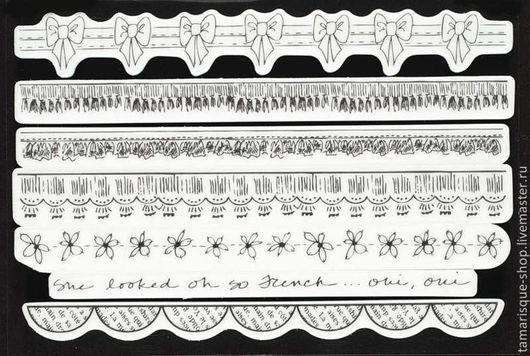 Открытки и скрапбукинг ручной работы. Ярмарка Мастеров - ручная работа. Купить Набор резиновых штампов «Бордюр» 18,5 см. Handmade.