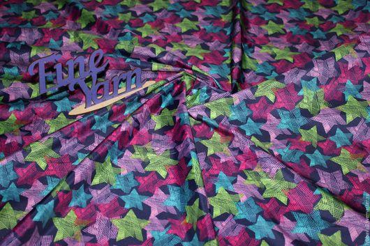 Шитье ручной работы. Ярмарка Мастеров - ручная работа. Купить Дюспо Звезды радуга. Handmade. Комбинированный, шитье, костюмная ткань
