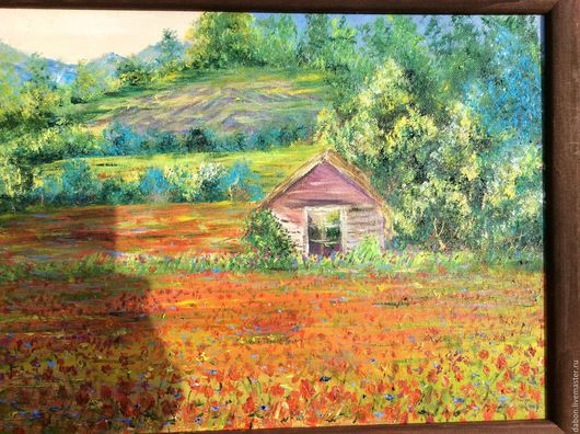 Пейзаж ручной работы. Ярмарка Мастеров - ручная работа. Купить Картина в подарок Южная Франция, авторская работа. Handmade.