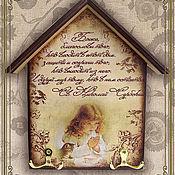 """Для дома и интерьера ручной работы. Ярмарка Мастеров - ручная работа Ключница-оберег """"Мир дому"""". Handmade."""