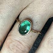 Украшения handmade. Livemaster - original item 1,71 ct VS Natural Emerald in women`s 585 Gold Ring. Handmade.