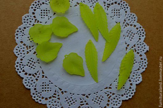 Для украшений ручной работы. Ярмарка Мастеров - ручная работа. Купить Листочки акриловые зеленые, 2 вида.. Handmade.