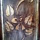 Деревянное настенное панно с эффектом состаривания. Доска с золочением. Эксклюзивный подарок на любой случай.