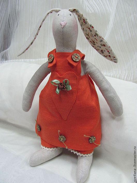 Куклы Тильды ручной работы. Ярмарка Мастеров - ручная работа. Купить Зайка Фома интерьерная кукла в стиле Tilda из льна. Handmade.