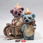 Куклы и игрушки ручной работы. Ярмарка Мастеров - ручная работа Мишки-конфетки Лоли и Поль. Handmade.
