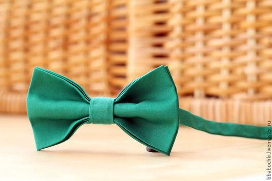 Галстуки, бабочки ручной работы. Ярмарка Мастеров - ручная работа. Купить Бабочка зеленая детская/взрослая. Handmade. Зеленый, бабочка