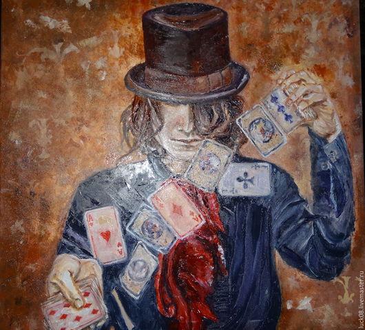 """Люди, ручной работы. Ярмарка Мастеров - ручная работа. Купить """"Джокер"""". Handmade. Коричневый, игра, картина в подарок, подарок женщине"""