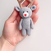 Куклы и игрушки ручной работы. Ярмарка Мастеров - ручная работа Вязаный олененок для куколок. Handmade.