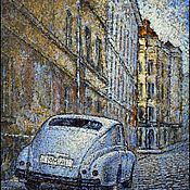 Картины ручной работы. Ярмарка Мастеров - ручная работа Ретро автомобиль на улице старого города. Handmade.
