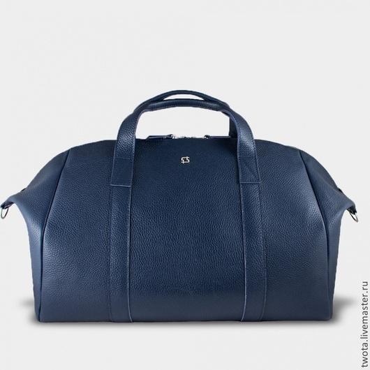 """Мужские сумки ручной работы. Ярмарка Мастеров - ручная работа. Купить Сумка """"Holdall Blue"""". Handmade. Синий, натуральная кожа"""